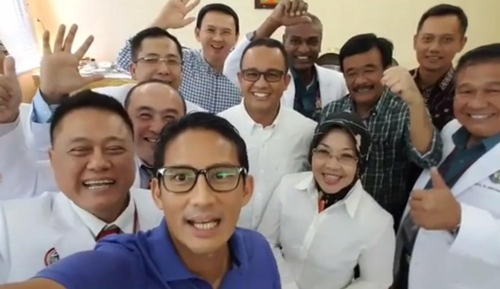 Foto selfie yang diambil oleh Sandiaga Uno | Sumber: Kini.co.id