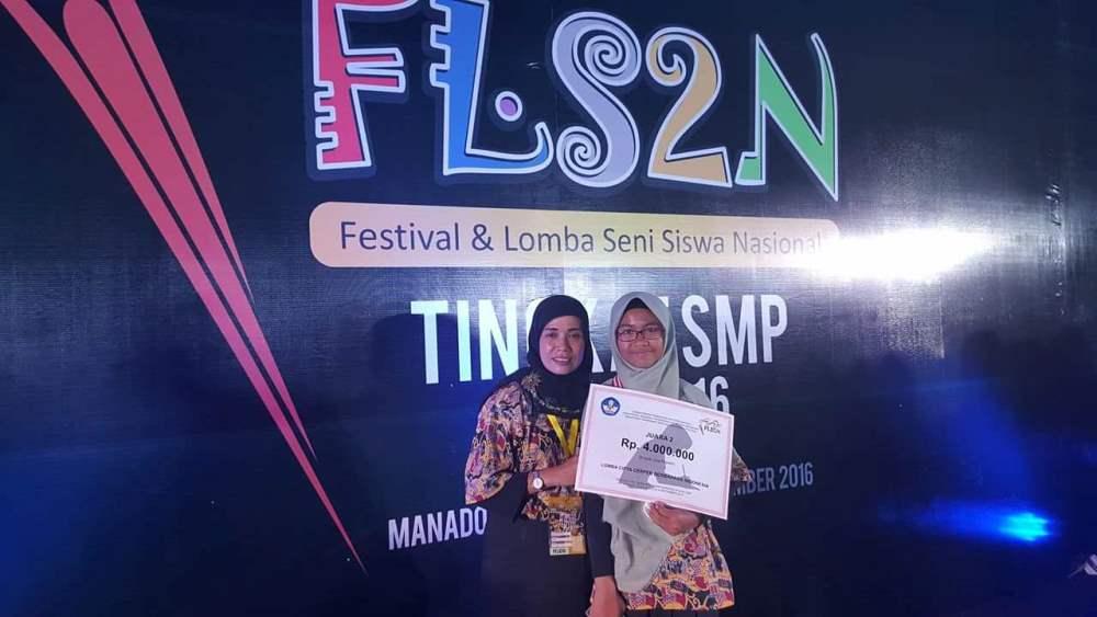 Azzahra Salsabila, Pemenang FLS2N Manado asal Provinsi Bengkulu | Foto: Dok. Pribadi Azzahrah/PROGRES.ID