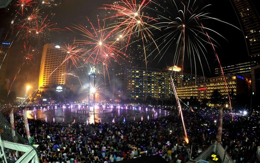 Perayaan Tahun Baru 2016 di Jakarta/ Foto: Liputan6