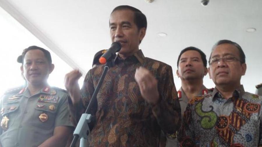 Jokowi Apresiasi Gerak Cepat Densus 88 Tangani Terduga Teroris di Tangerang Selatan/ Foto: Tribun