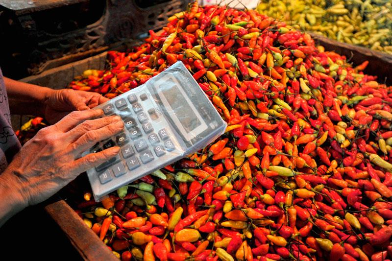 Harga cabai rawit merah diperkirakan akan terus terun | Foto : Tahuberita