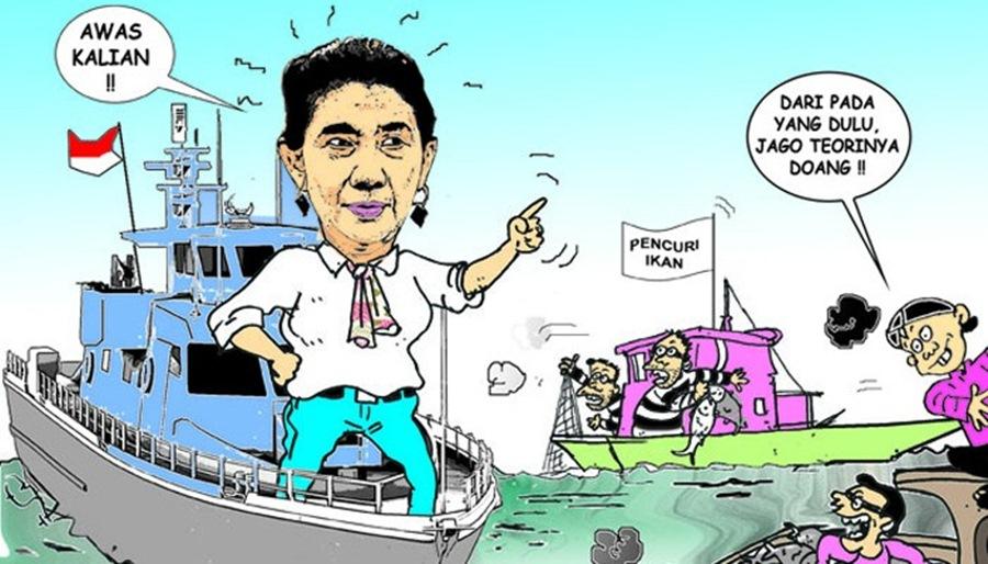 Ilustrasi: Penenggelman Kapal Pencuri Ikan/ foto: Mulyadipiak