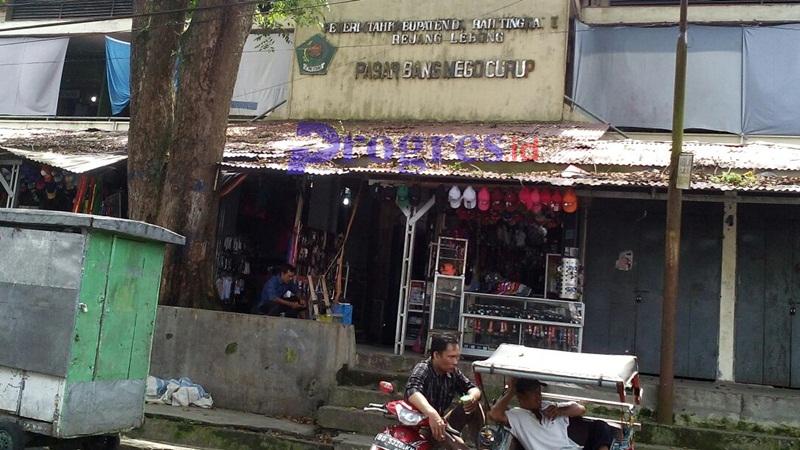 Kondisi pasar Bang Mego saat ini \foto: Hasan Basri\PROGRES.ID