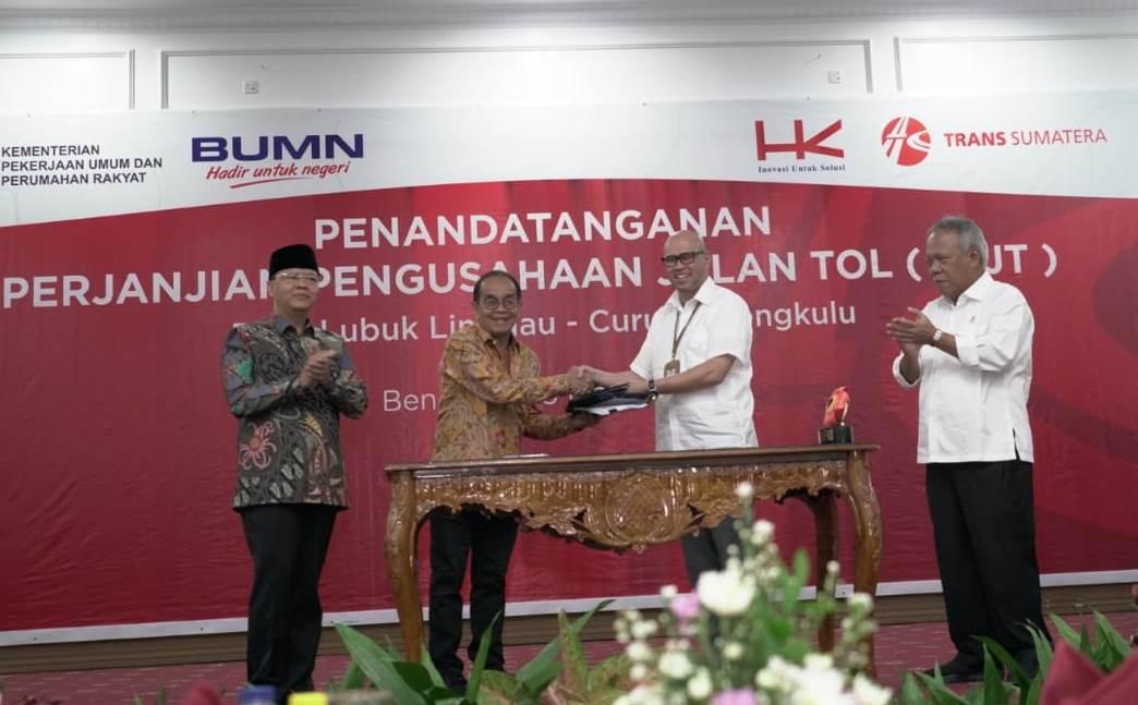 Teken PPJT Bengkulu-lubuklinggau
