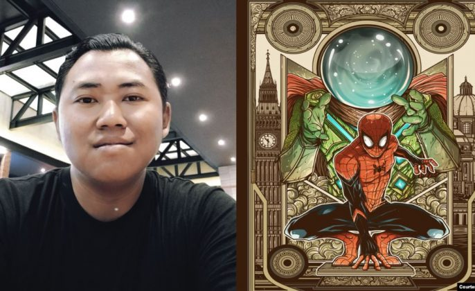 Ilustrator Spiderman far from home