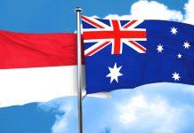 Bendera Indonesia Australia