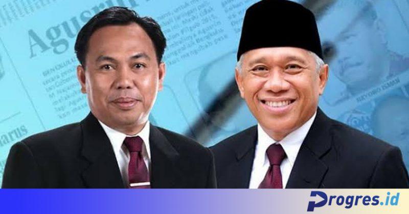 Agusrin Maryono Najamudin dan Imron Rosyadi (Foto: Dok. Tim AIR/PROGRES.ID)