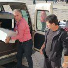 Komunitas muslim membantu korban gempa di Albania. (Foto: VOA)